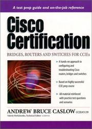 Cover of: CISCO Certification | Andrew Bruce Caslow