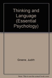 Cover of: Thinking and language | Judith Greene