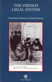 Cover of: The French legal system | Christian Dadomo