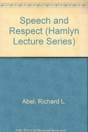 Cover of: Speech & respect