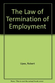 Cover of: The law of termination of employment