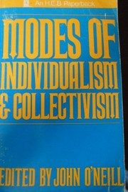 Cover of: Modes of individualism and collectivism | O'Neill, John