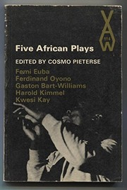Cover of: Five African plays. | Cosmo Pieterse