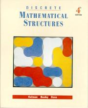 Cover of: Discrete mathematical structures
