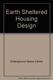 Cover of: Earth sheltered housing design