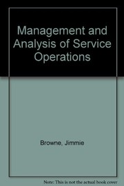Cover of: Management and analysis of service operations