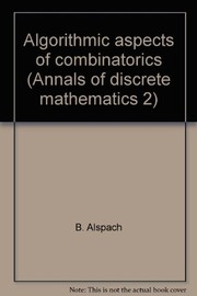 Cover of: Algorithmic aspects of combinatorics |