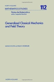 Cover of: Generalized classical mechanics and field theory | Manuel De LeoМЃn