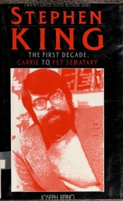 Cover of: Stephen King | Joseph Reino