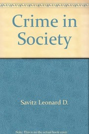 Cover of: Crime in society