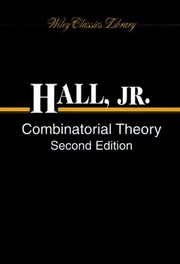 Cover of: Combinatorial theory