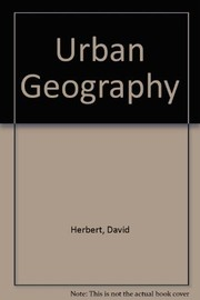 Cover of: Urban geography | David T. Herbert