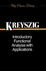 Cover of: Introductory functional analysis with applications | Erwin Kreyszig