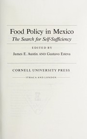 Cover of: Food policy in Mexico