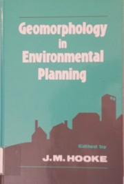 Cover of: Geomorphology in environmental planning |