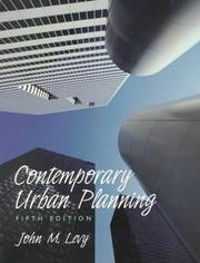 Cover of: Contemporary urban planning