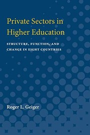 Cover of: Private sectors in higher education | Roger L. Geiger