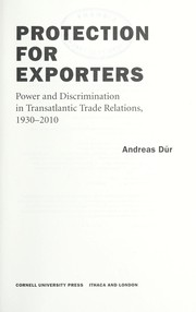 Cover of: Protection for exporters | Andreas DГјr
