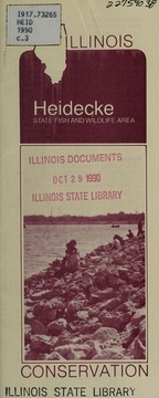 Cover of: Heidecke State Fish and Wildlife Area | Illinois. Department of Conservation