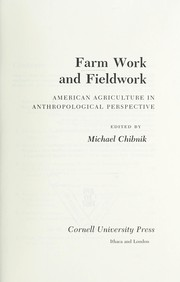 Cover of: Farm work and fieldwork |