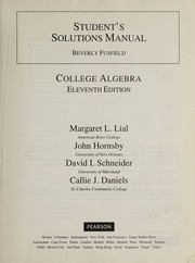 Cover of: Student's Solutions Manual College Algebra