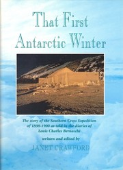 Cover of: That first Antarctic winter | Janet Crawford