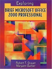 Cover of: Brief Microsoft Office 2000 Professional (Grauer, Robert T., Exploring Microsoft Office 2000 Series.)