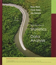 Cover of: Introduction to Statistics and Data Analysis