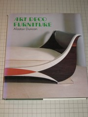 Cover of: Art deco furniture | Alastair Duncan