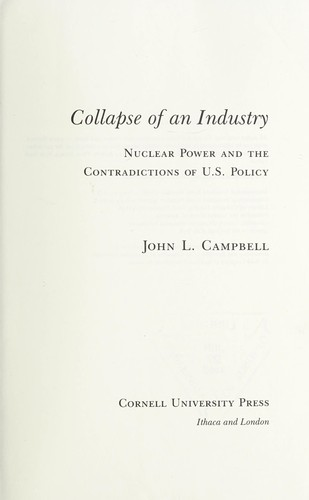 Collapse of an industry by John L. Campbell