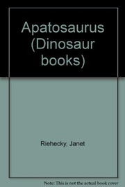 Cover of: Apatosaurus | Janet Riehecky