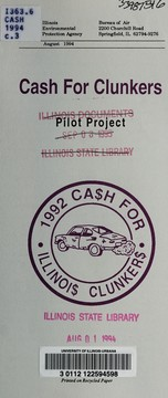 Cover of: Cash for clunkers | Illinois. Bureau of Air