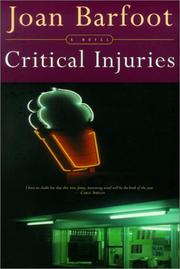 Cover of: Critical injuries