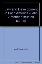 Cover of: Law and development in Latin America