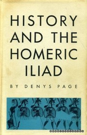 Cover of: History and the Homeric Iliad | Denys Lionel Page