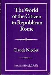 Cover of: The world of the citizen in republican Rome
