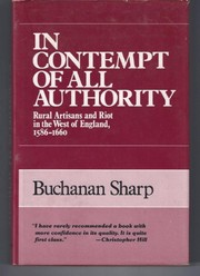 Cover of: In contempt of all authority | Buchanan Sharp