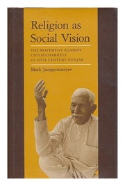 Cover of: Religion as social vision | Mark Juergensmeyer