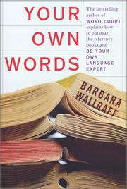 Cover of: Your own words