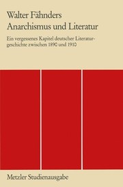 Cover of: Anarchismus und Literatur