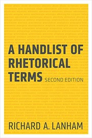 Cover of: A Handlist of Rhetorical Terms