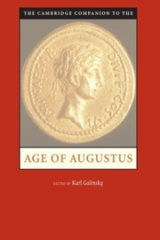 Cover of: The Cambridge companion to the Age of Augustus |