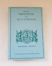 Cover of: From imperium to auctoritas