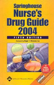 Cover of: Springhouse Nurse's Drug Guide 2004