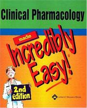 Cover of: Clinical Pharmacology Made Incredibly Easy!