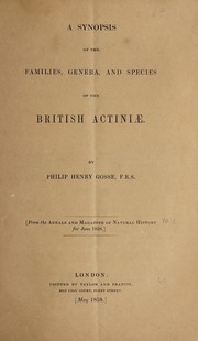Cover of: A synopsis of the families, genera, and species of the British actiniae