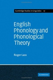 Cover of: English phonology and phonological theory | Roger Lass
