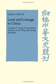 Cover of: Land and lineage in China | Hilary J. Beattie