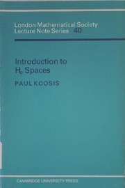 Cover of: Introduction to Hp spaces, with an appendix on Wolff's proof of the corona theorem