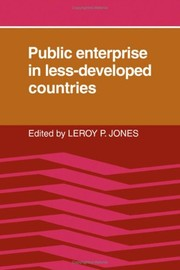 Cover of: Public enterprise in less-developed countries |